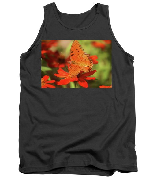Tank Top featuring the photograph Butterfly On Flower by Donna G Smith