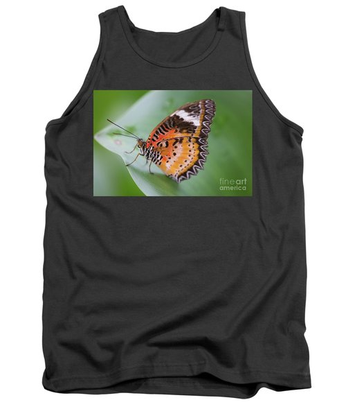 Butterfly On The Edge Of Leaf Tank Top