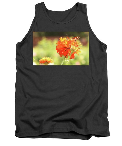 Tank Top featuring the photograph Butterfly Peek-a-boo by Donna G Smith