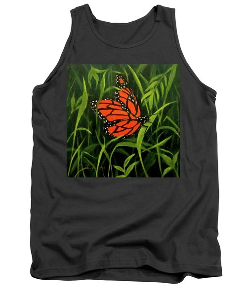 Tank Top featuring the painting Butterfly by Roseann Gilmore
