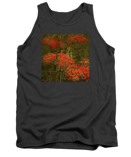 Butterfly Weed Asclepias Tuberosa Tank Top by Bellesouth Studio