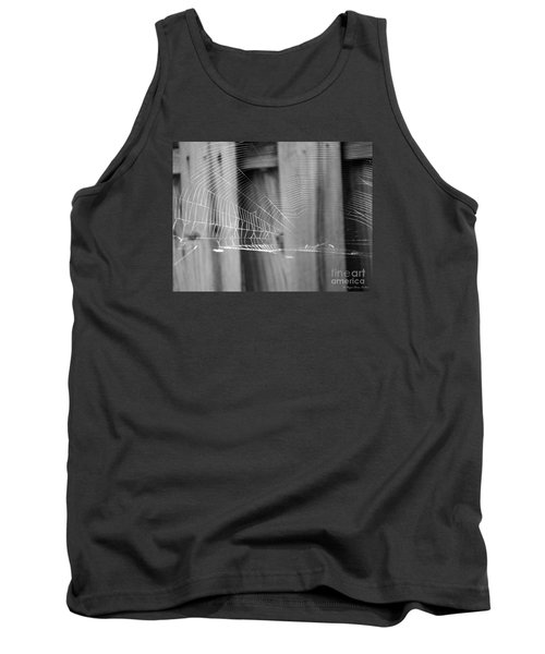 Tank Top featuring the photograph Bw Spiderweb by Megan Dirsa-DuBois