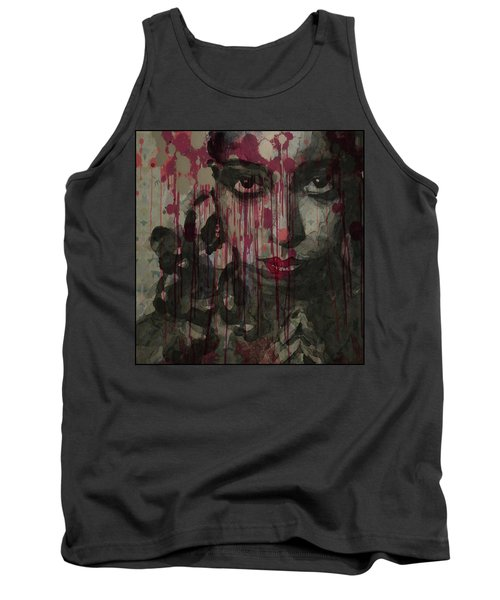 Tank Top featuring the painting Bye Bye Blackbird by Paul Lovering