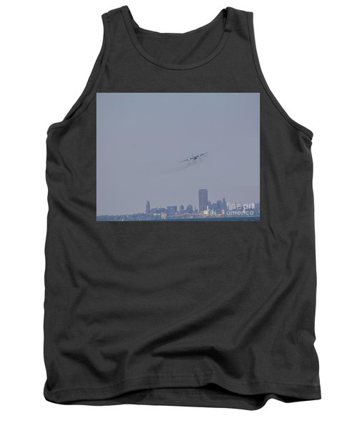 Tank Top featuring the photograph C130 Over Buffalo by Jim Lepard