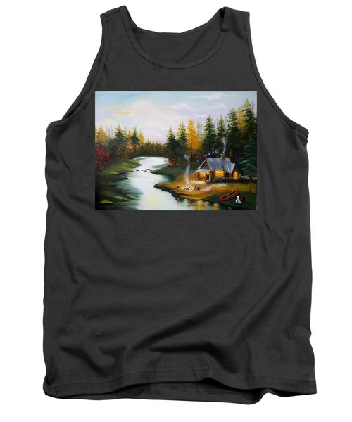 Cabin By The River Tank Top