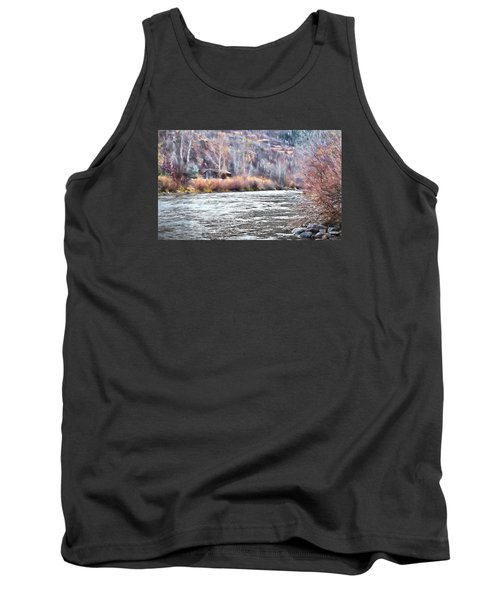 Cabin By The River In Steamboat,co Tank Top by James Steele