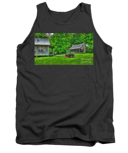 Tank Top featuring the photograph Cabin Fever Great Smoky Mountains Art by Reid Callaway