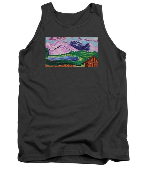 Cabin In The Mountains Tank Top by Don Koester
