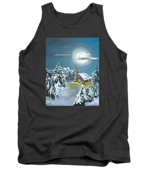 Cabin In The Woods Tank Top by Donna Blossom