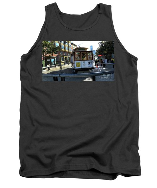 Tank Top featuring the photograph Cable Car Turnaround by Steven Spak