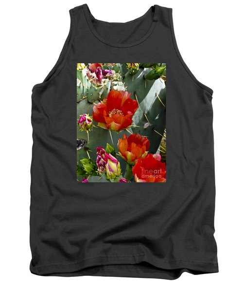 Cactus Blossom Tank Top by Kathy McClure