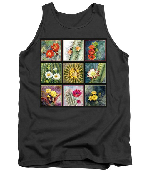 Tank Top featuring the painting Cactus Series by Marilyn Smith