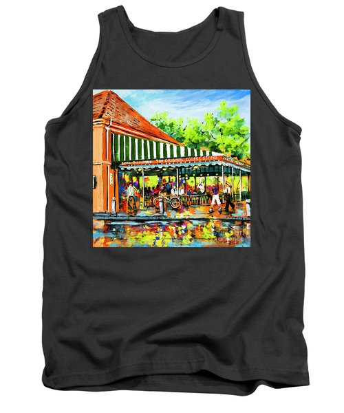 Tank Top featuring the painting Cafe Du Monde Lights by Dianne Parks