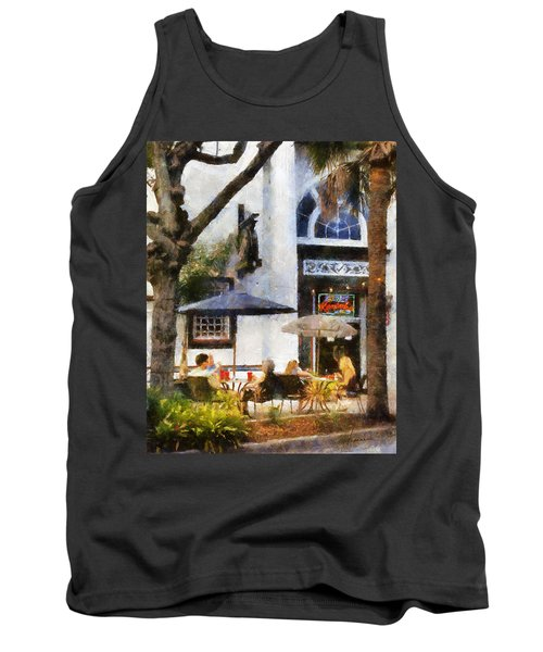Tank Top featuring the digital art Cafe by Francesa Miller