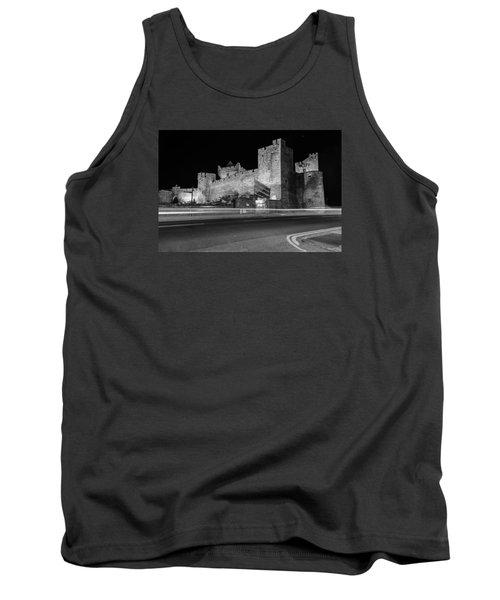 Cahir Castle At Night Tank Top by Martina Fagan