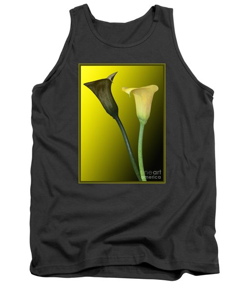 Cala Lilies Opposites Tank Top by Shirley Mangini