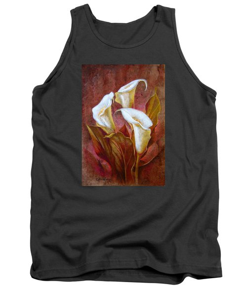 Cala Lillies Bouquet Tank Top