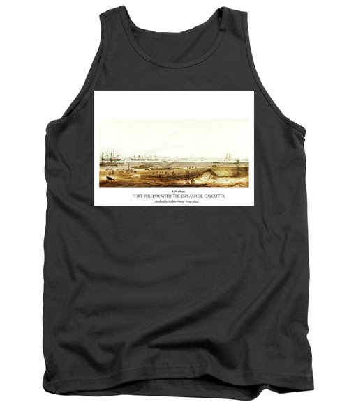Tank Top featuring the digital art Calcutta In 18th Century by Asok Mukhopadhyay