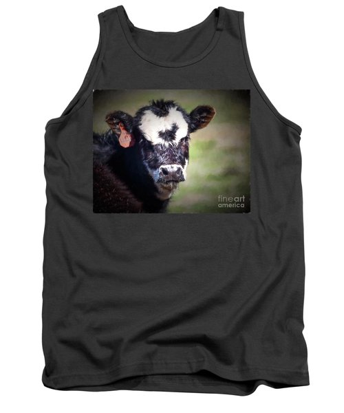 Calf Number 444 Tank Top by Laurinda Bowling