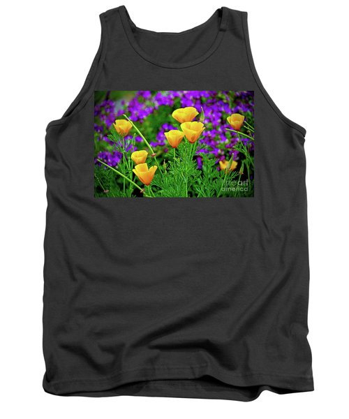 California Poppies Tank Top by Michael Cinnamond