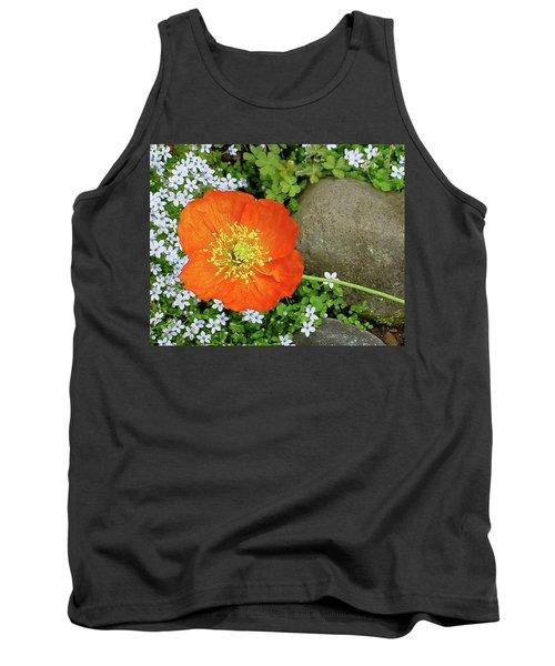 California Poppy Rock Garden Tank Top by Shirley Heyn