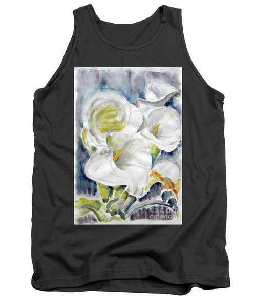 Tank Top featuring the painting Calla by Jasna Dragun