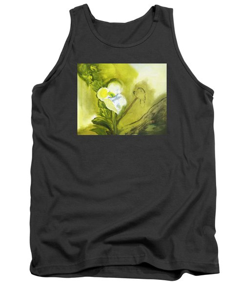 Calla Lily In Acrylic Tank Top