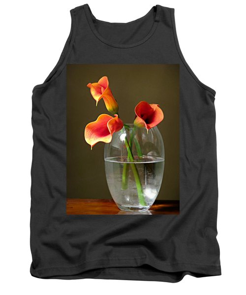 Calla Lily Stems Tank Top by Diana Angstadt