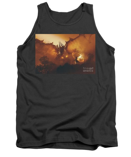 Tank Top featuring the painting Calling Of The Dragon by Tithi Luadthong