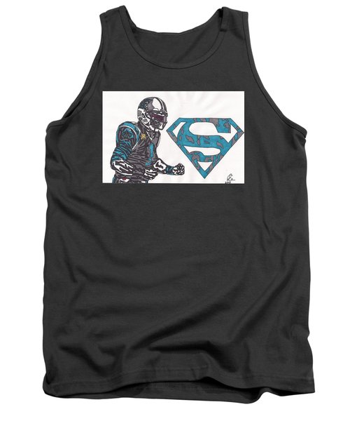 Cam Newton Superman Edition Tank Top by Jeremiah Colley