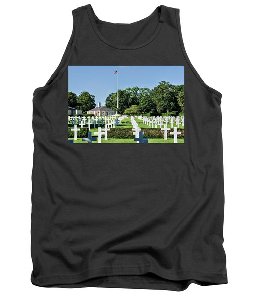 Tank Top featuring the photograph Cambridge England American Cemetery by Alan Toepfer