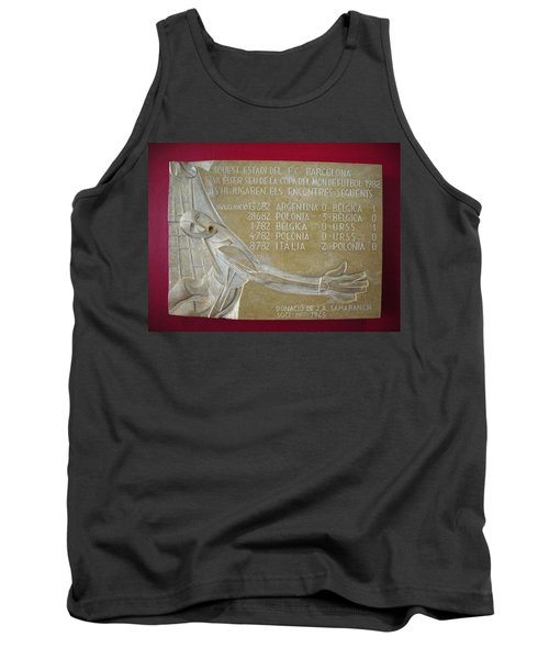 Tank Top featuring the photograph Camp Nou 1982 by Juergen Weiss
