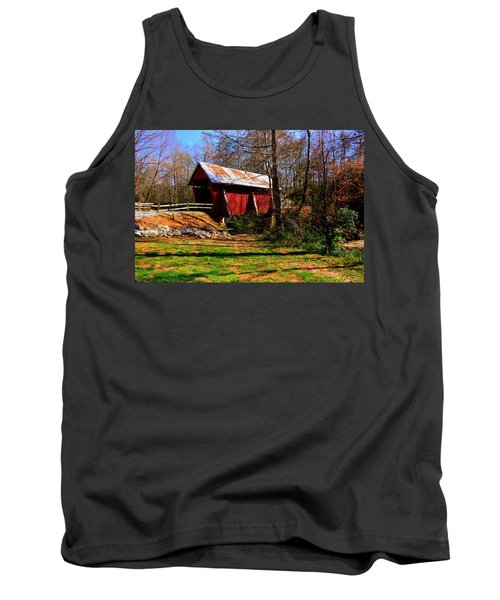 Campbell's Covered Bridge Est. 1909 Tank Top