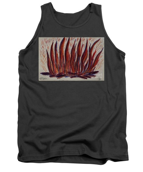 Campfire Flames Tank Top by Theresa Willingham