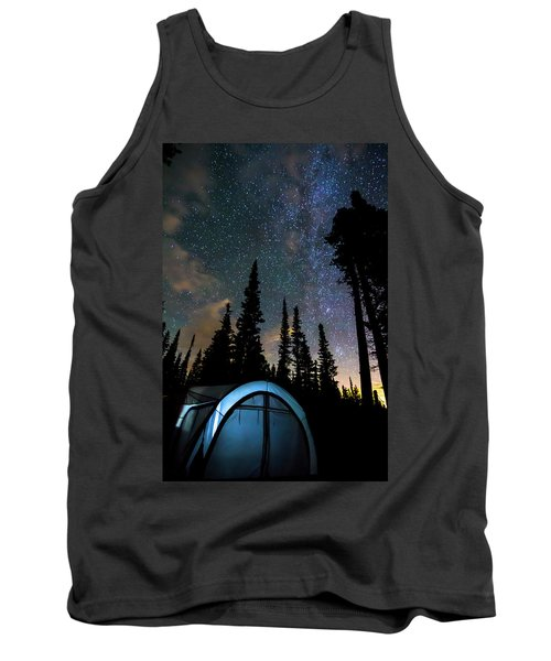 Tank Top featuring the photograph Camping Star Light Star Bright by James BO Insogna