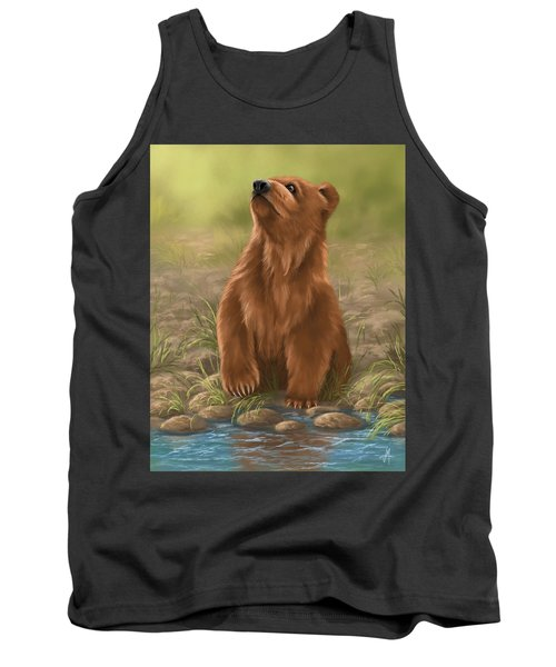 Tank Top featuring the painting Can I Dive? by Veronica Minozzi