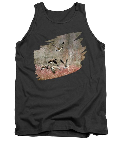 Canada Geese In Flight Tank Top by Christina Rollo