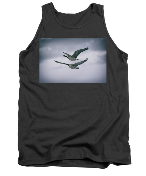 Canadian Geese In Flight Tank Top