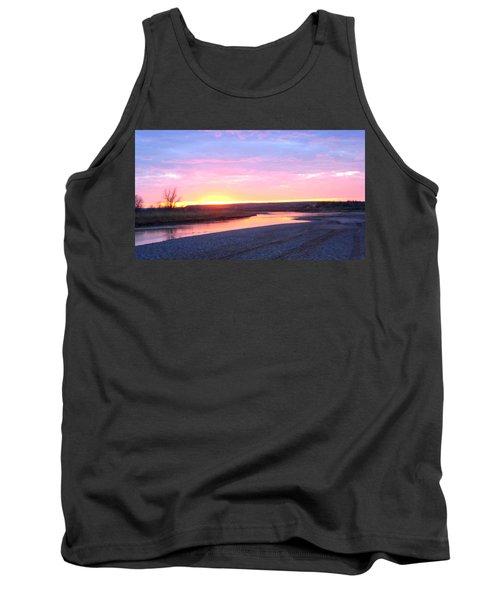 Canadian River Sunset Tank Top