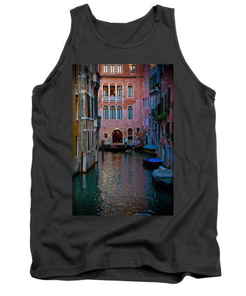 Canal At Dusk Tank Top by Harry Spitz