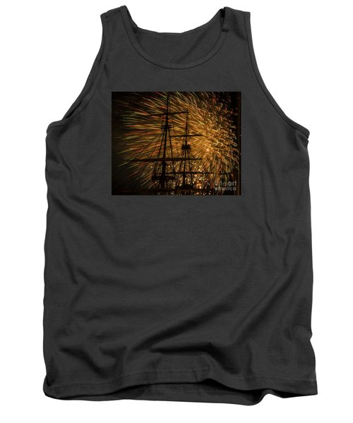 Tank Top featuring the photograph Canal Day Fireworks Finale by JT Lewis