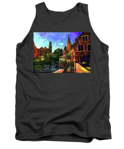 Canal In Bruges Tank Top by DC Langer