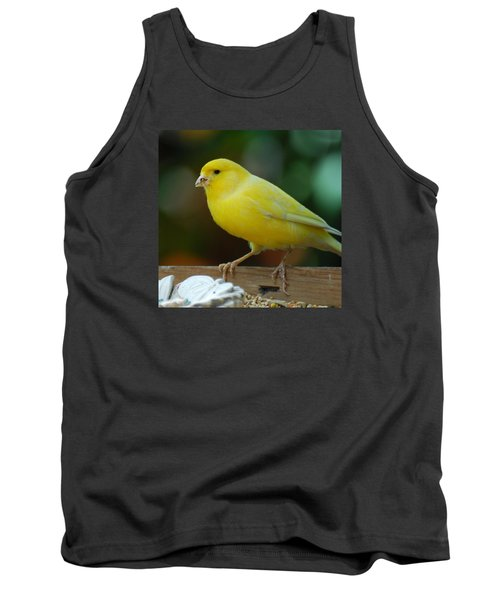 Tank Top featuring the photograph Canary Domesticated by Ramona Whiteaker