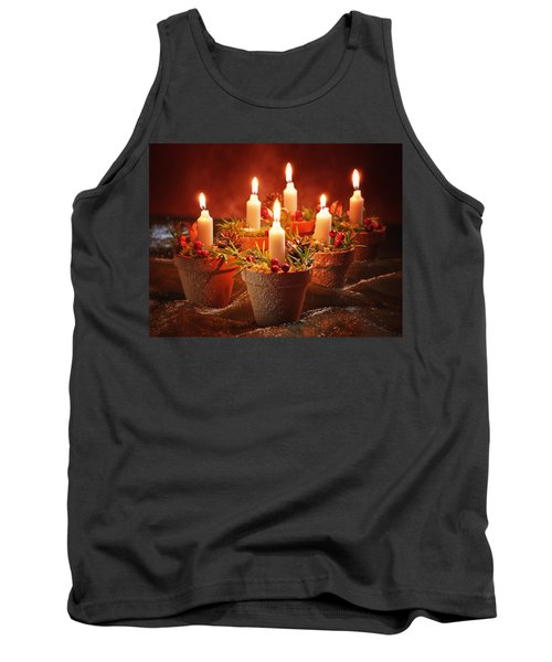 Candles In Terracotta Pots Tank Top