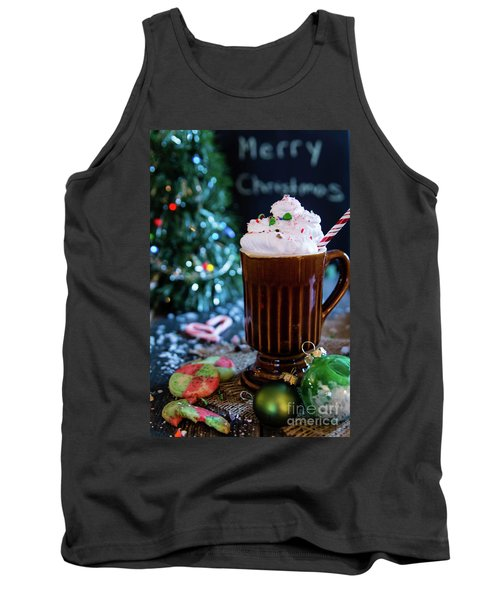 Tank Top featuring the photograph Candy Cane Twist by Deborah Klubertanz