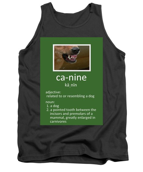Canine Poster Tank Top