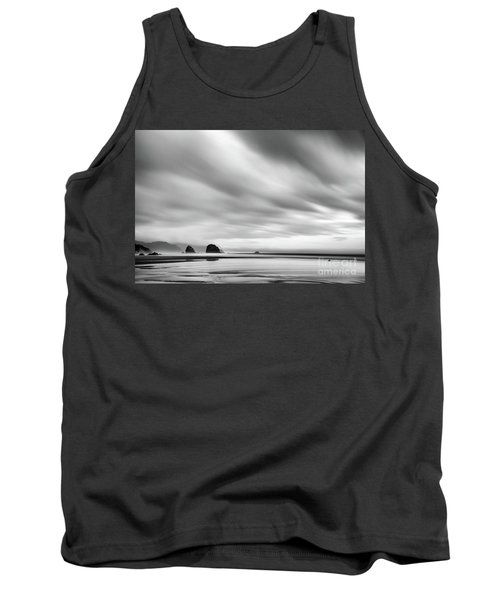 Cannon Beach Long Exposure Sunrise In Black And White Tank Top