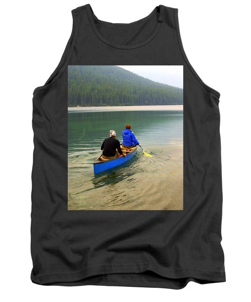 Canoeing Glacier Park Tank Top