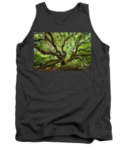 Canopy Of Color At Angel Oak Tree  Tank Top