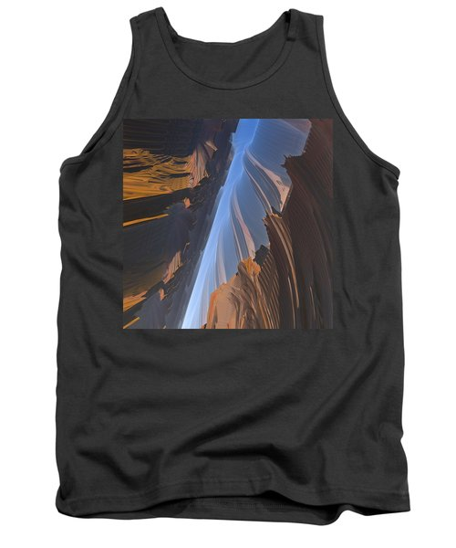 Tank Top featuring the digital art Canyon by Lyle Hatch
